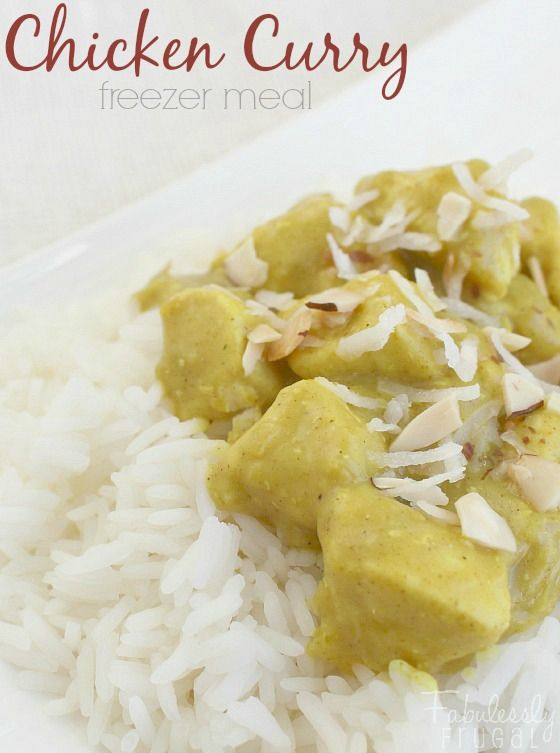 Freezer Meal Recipes: Chicken Curry. This curry is mild, creamy, and family-friendly!