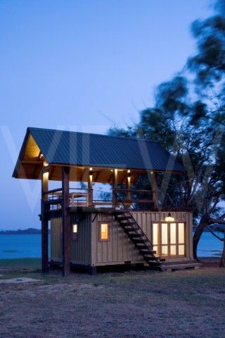 Holiday Cabana Maduru Oya Sri lanka Damith Premathilake Architecture Lake House using shipping container: