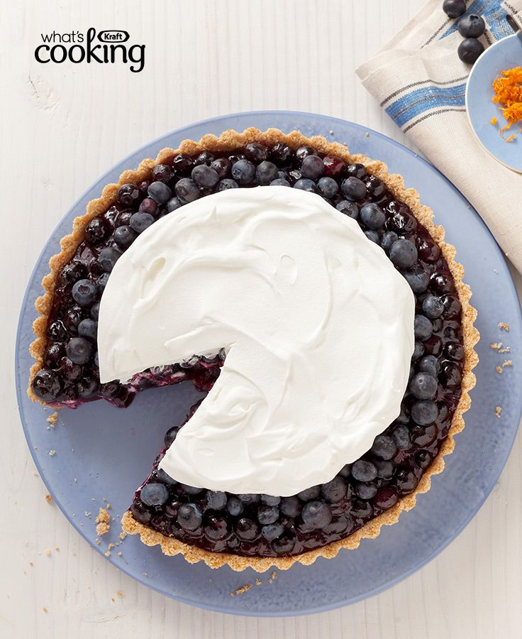 Blueberry Refrigerator Pie #recipe