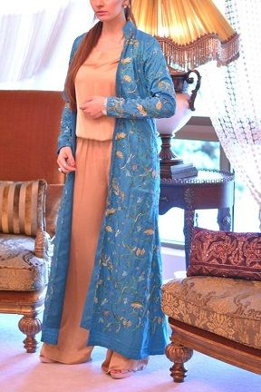7f0c8e8798 Open-Fronted Blue Robe - Pakistani Style | Chic Pakistani Fashion | Fashion,  Fashion outfits, Dresses
