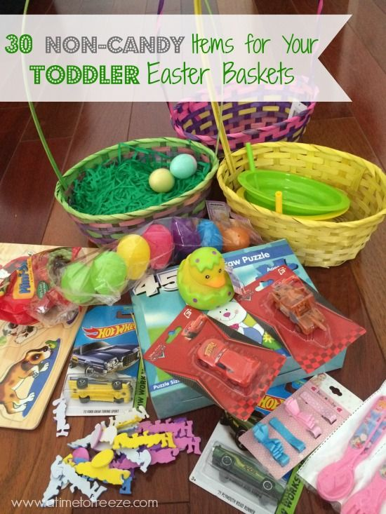 30 Non-candy items for your toddler Easter baskets ~ A Time to Freeze