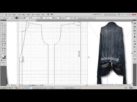 Tişört kalıbı üzerine model uygulama 11  / T-short pattern on the model ...