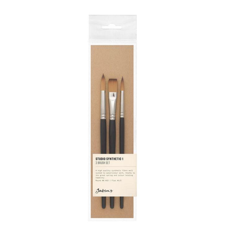 Jackson's Studio Synthetic 1/2-8-10 Brush Set