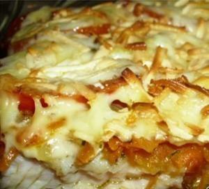 """Рыба, запечённая под """"шубой"""". Пошаговый рецепт с фото, удобный поиск рецептов на Gastronom.ru"""