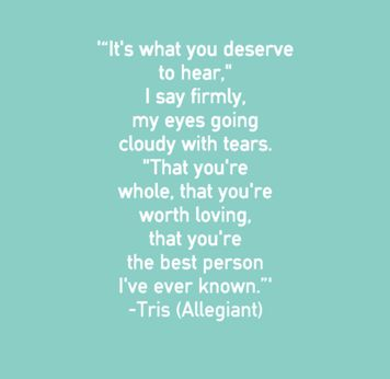 This was my favorite moment in Allegiant, I was crying so hard