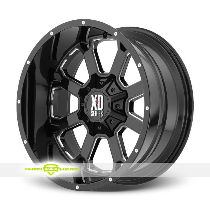 XD Series XD825 Buck 25 Black Milled Wheels For Sale & XD Series XD825 Buck 25 Rims And Tires