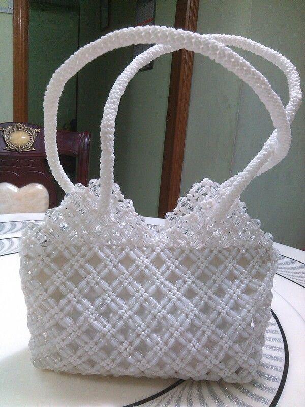 White medium size handbag