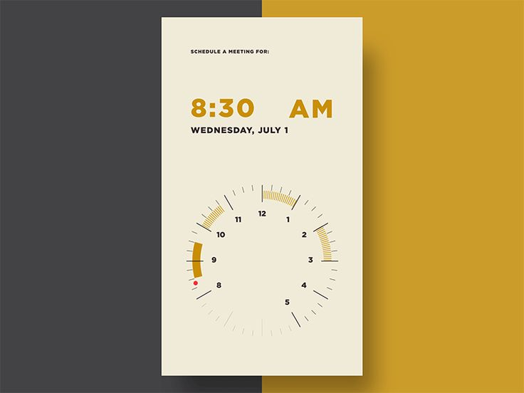 Time Selector Animation by Samantha Caplan—The Best iPhone Device Mockups → store.ramotion.com
