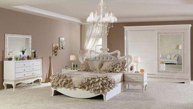 566 - Lüks Pirema Klasik Beyaz Yatak Odası