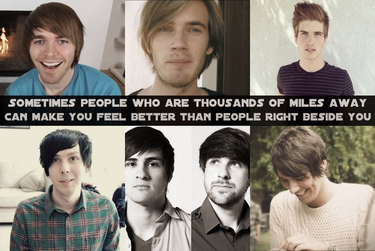 Sadly, I know all of them. Shane Dawson, Pewdiepie, Joey Graceffa, Phil Lester, Smosh/ Anthony and Ian, and Dan Howell <3