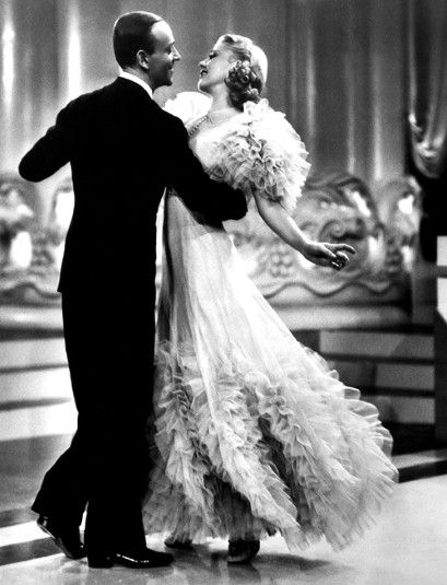 "Fred Astaire and Ginger Rogers. ""Heaven, I'm in heaven....""  (Ballroom dance.)"