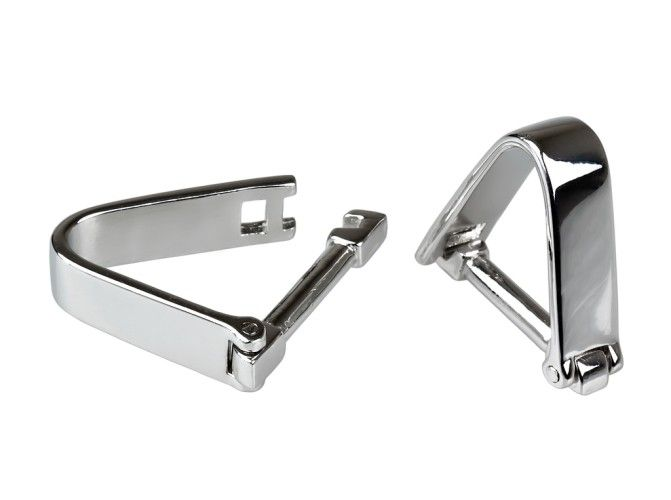 Stirrup wrap-around  $55 Add to Cart  Resembling horse riding stirrups, these cuff links wrap around the outside of the cuff.