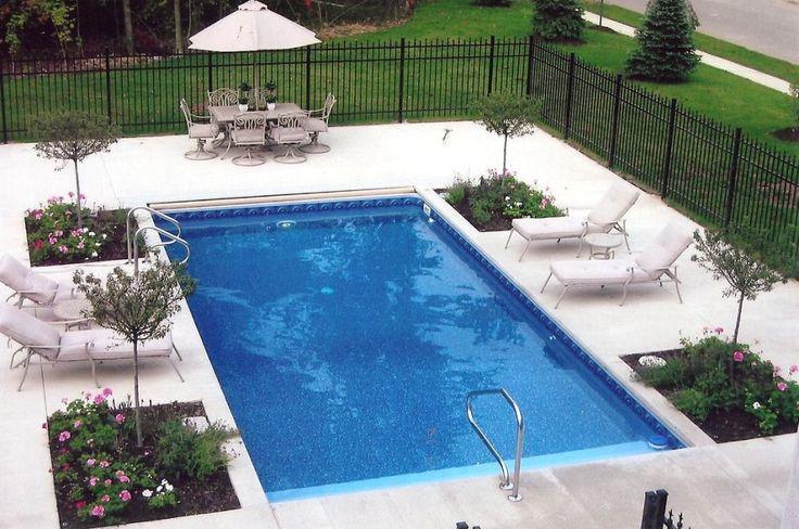 Exterior: Varnished Fiberglass Pool Kits Diy Inground Pool Kits Used Fiberglass Pools For Diy Pool Kits Fiberglass Pool Kits Do It Yourself Small Fiberglass from Beautiful Small Inground Pools