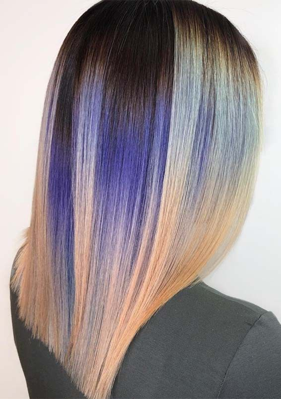 Stunning Blends Of Hair Colors Hairstyles In 2019 Stylesmod Hair Styles Stylish Hair Stylish Hair Colors
