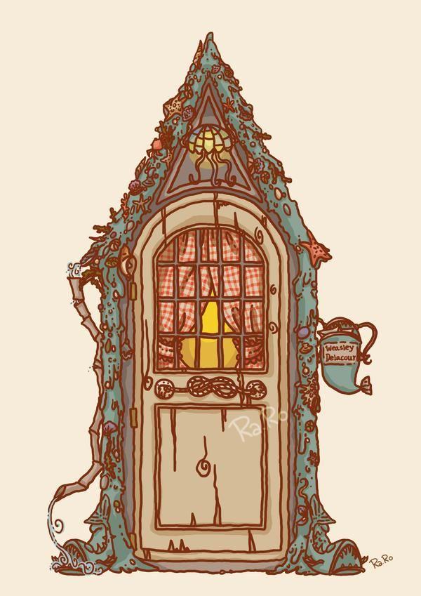 Shell Cottage Bill And Fleur House By Raro81 On Deviantart In 2020 Harry Potter Fan Art Harry Potter Drawings Harry Potter Art