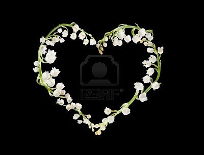 lilly of the valley heart tattoo idea. May birth flower