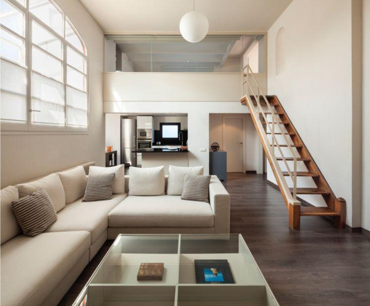 Cocina salon escalera moderno decoracion via - Barandillas escaleras modernas ...