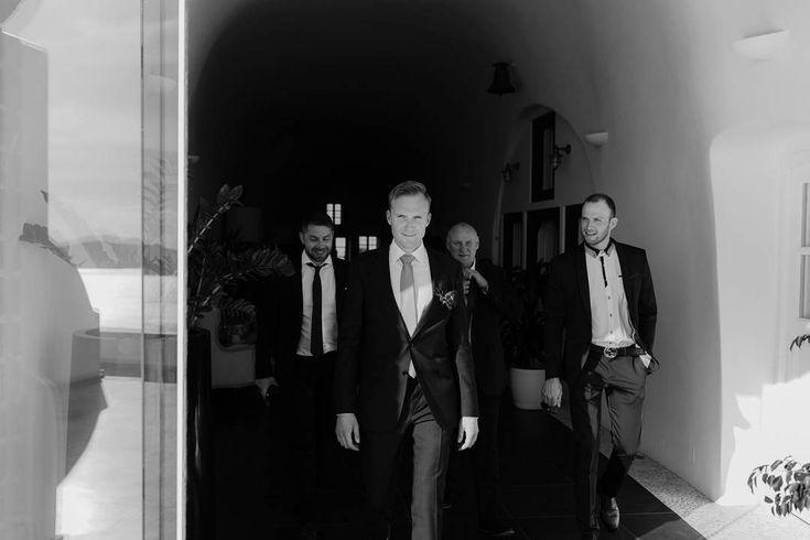 Groom squad | Wedding in Santorini