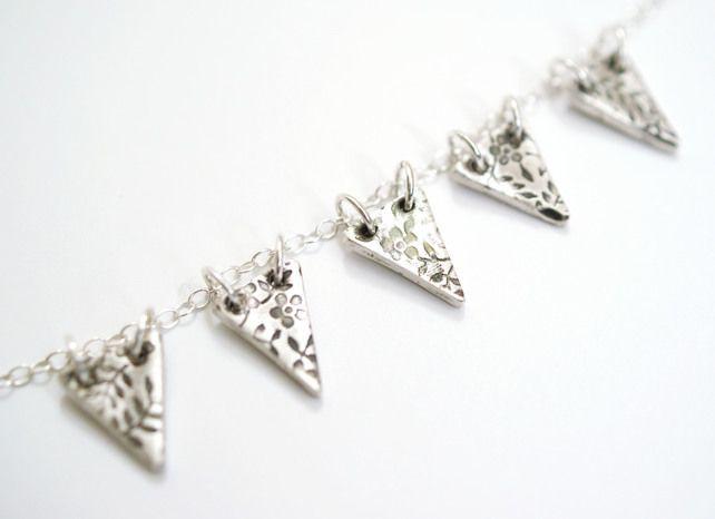 Secret+Garden+Fine+Silver+Bunting+Necklace £60.00