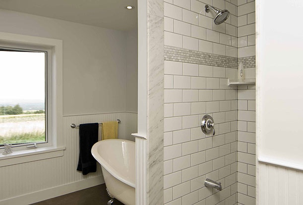 Black Bank Hill - the claw foot tub in the bathroom is a perfect place for a soak after a long day.