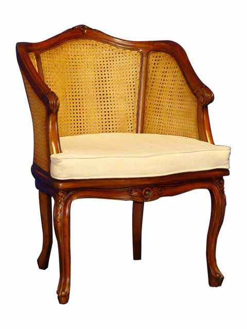 Louis XIV Chair. #HandmadeFurniture from solid Mahogany wood with #RattanSeat by #sokokayu