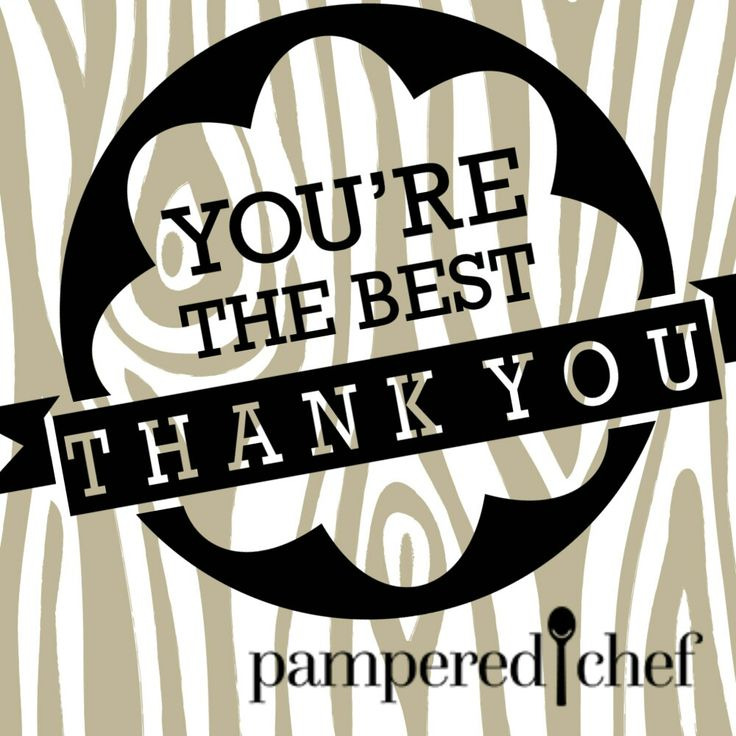 Thank you for your order! Pampered Chef