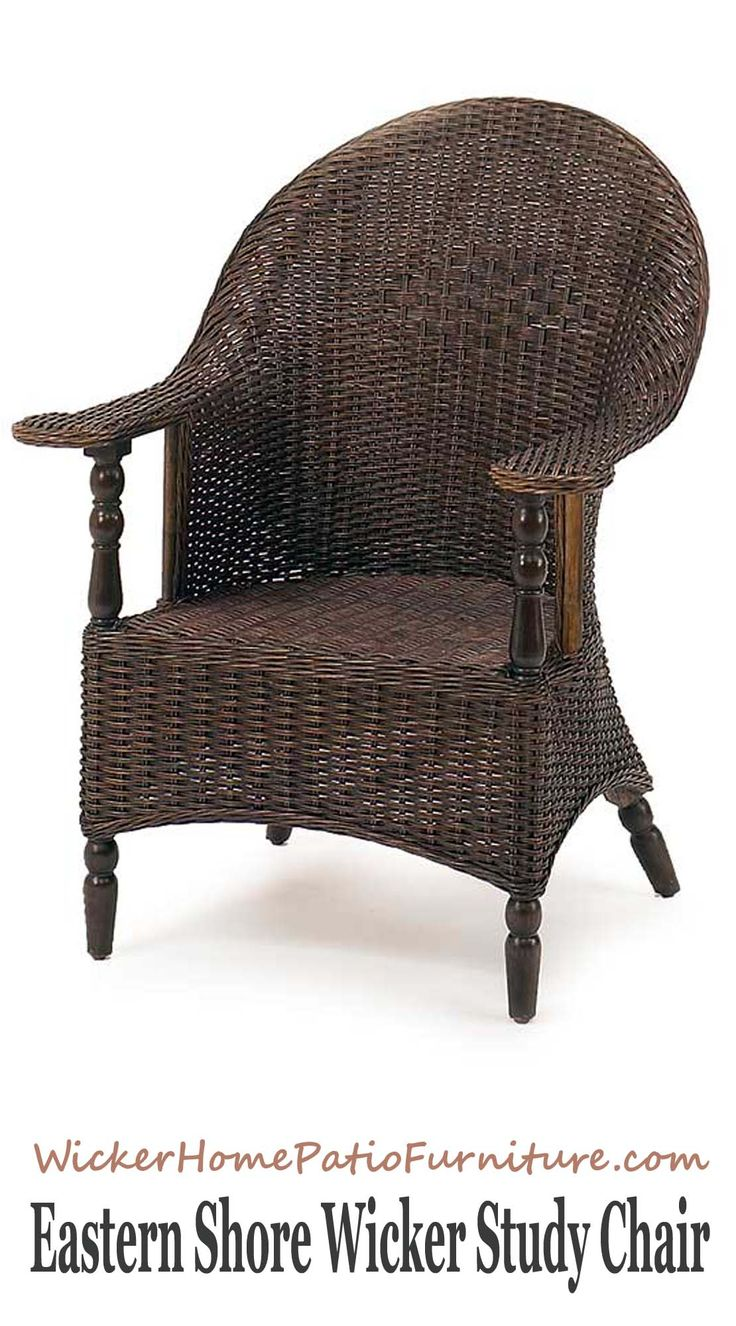 Lexington furniture chair fabric gold additionally ikea swivel chairs - Eastern Shore Wicker Study Chair Shows Off A True Balance Of Materials And An Excellent Example