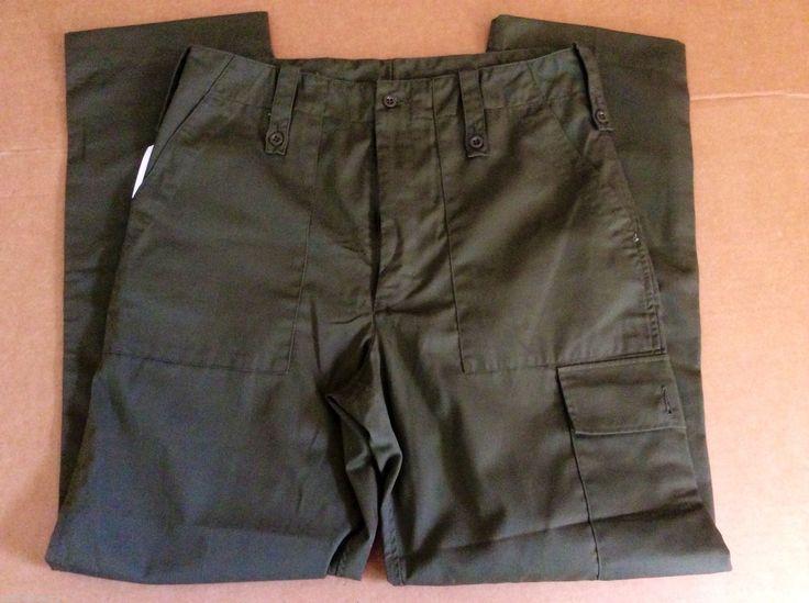 Compton Webb Men's Trousers Lightweight Green Chino Pockets Size 85 92 108 | eBay