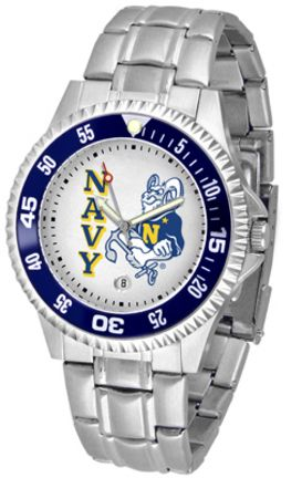 Navy Midshipmen Competitor Watch with a Metal Band