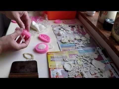 Házi készítésű, levegőn száradó gyurma sziklikon sablonokhoz - YouTube