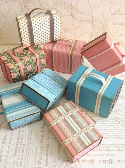 how to: mini suitcases from matchboxes
