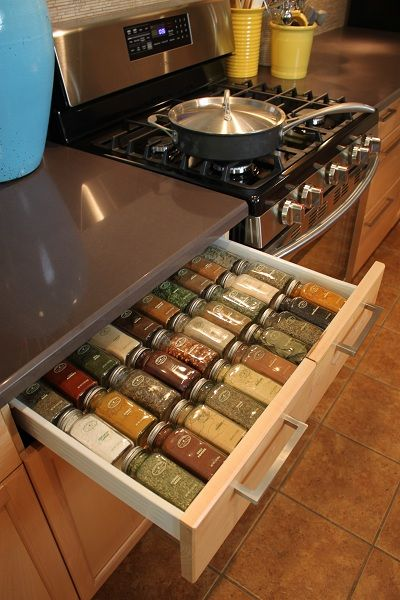 Guest Blogger DIY Feature: Custom Spice Rack Drawer Organizer