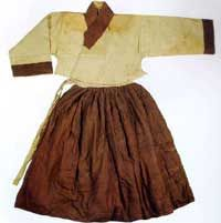 Skirt and Jacket Period: 17th century Size: length, waist, width(skirt) 90×84×354.5cm length, length of arm, width of armpit, shoulder width 54×80.5×31×56cm