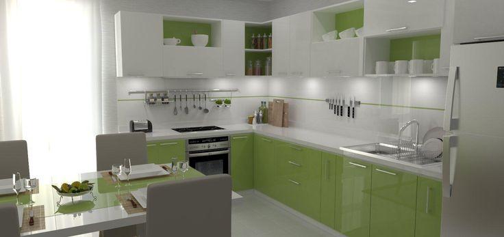 Kombinácia bielej lesklej a zelenej lesklej vytvára elegantný nedotknutý vzhľad.  💚  https://mojinterier.sk/bielo-zelena-pastva-pre-oci/bielo-zelena-pastva-pre-oci/