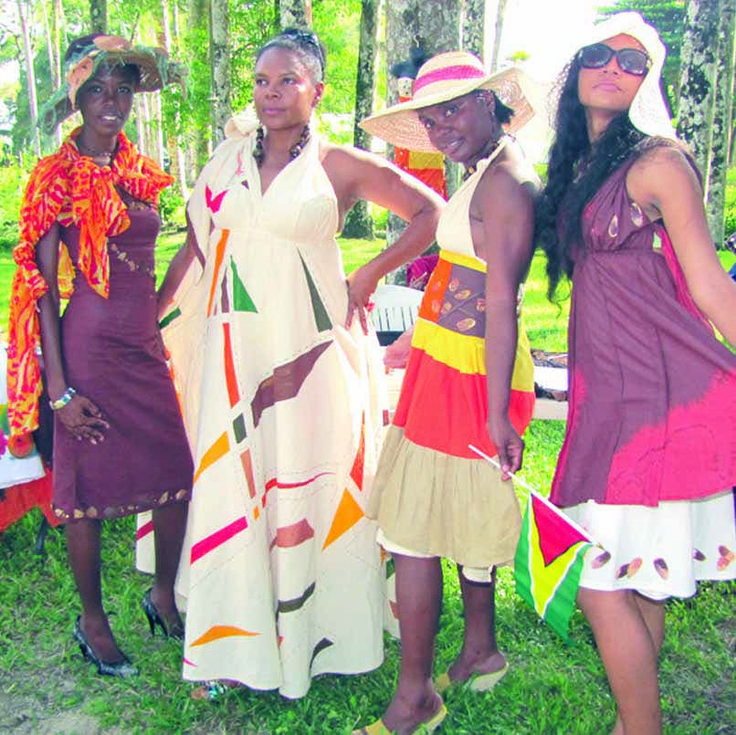 See the African Queens at Miss World 2015 in their ... |Guyana Traditional Dress