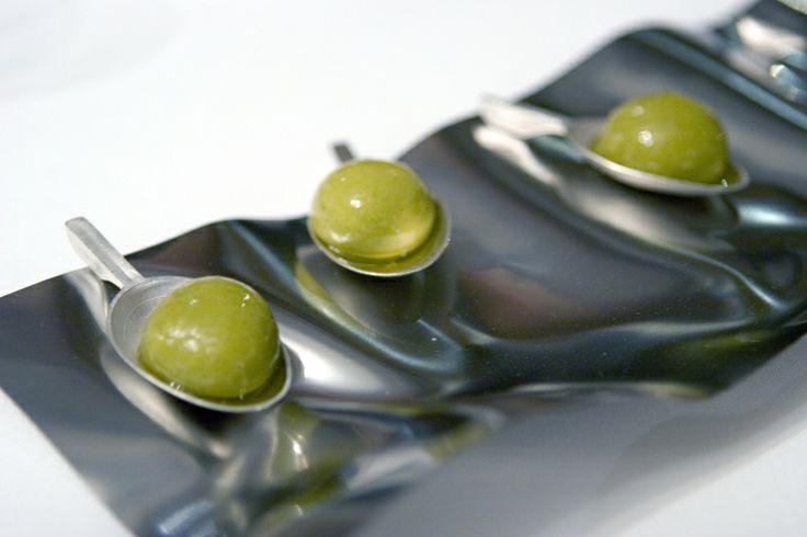 El Bulli - The perfect olive on custom spoons
