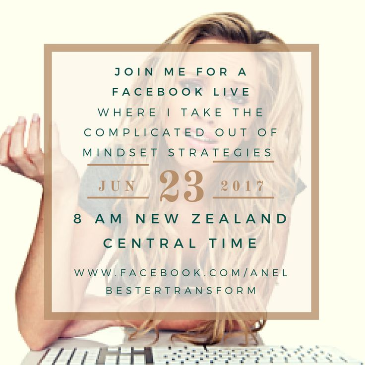 Join me this Friday where I take all the complication out of mind-set work.