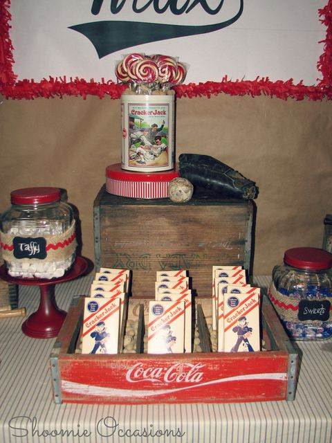"""Photo 8 of 28: Vintage Baseball / Birthday """"Max's Vintage Baseball Party""""   Catch My Party"""