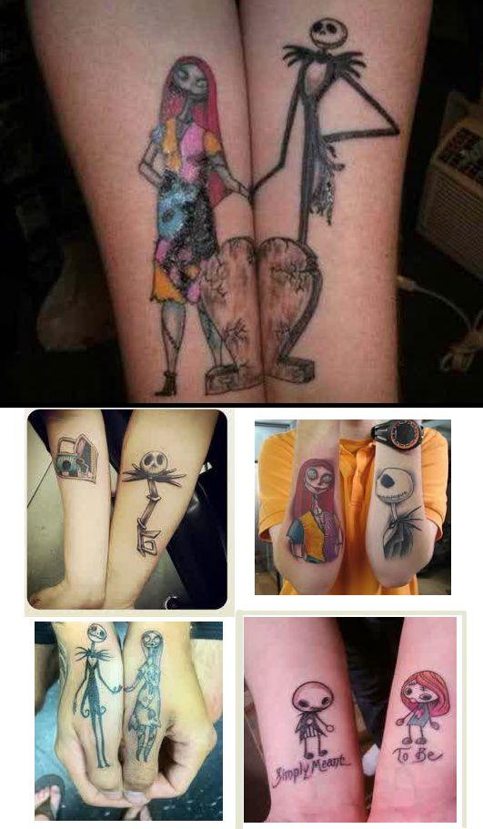 82f179dde nightmare before christmas tattoos for couple | Tattoos | Disney ...