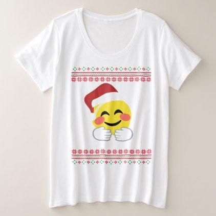 Santa Hug Smiley Emoji T-shirt Ugly Christmas - Xmas ChristmasEve Christmas Eve Christmas merry xmas family kids gifts holidays Santa