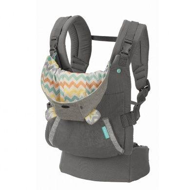 Infantino Cuddle Up Ergonomic Hoodie Carrier Grey Fun
