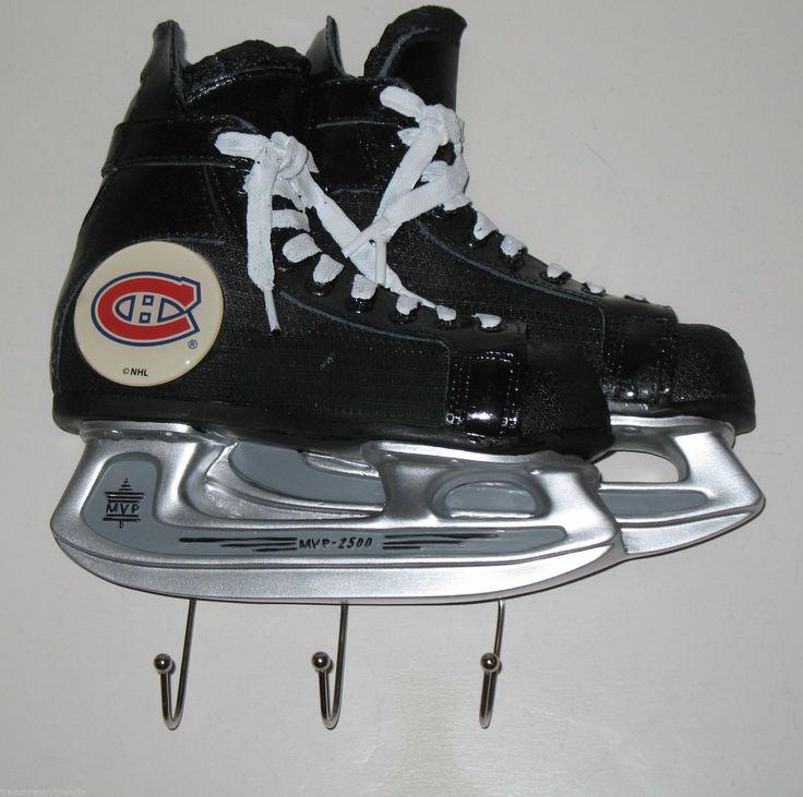 Unusual item for a Montreal Canadiens fan - a skate-shaped key rack. #montrealcanadiens #keyracks $49.95