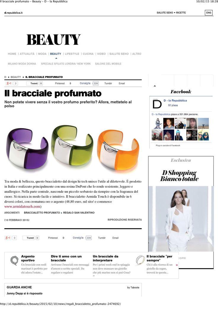 Breaking news! @srmidatouch on La Repubblica #beauty #news #press  http://www.armidatouch.com/press