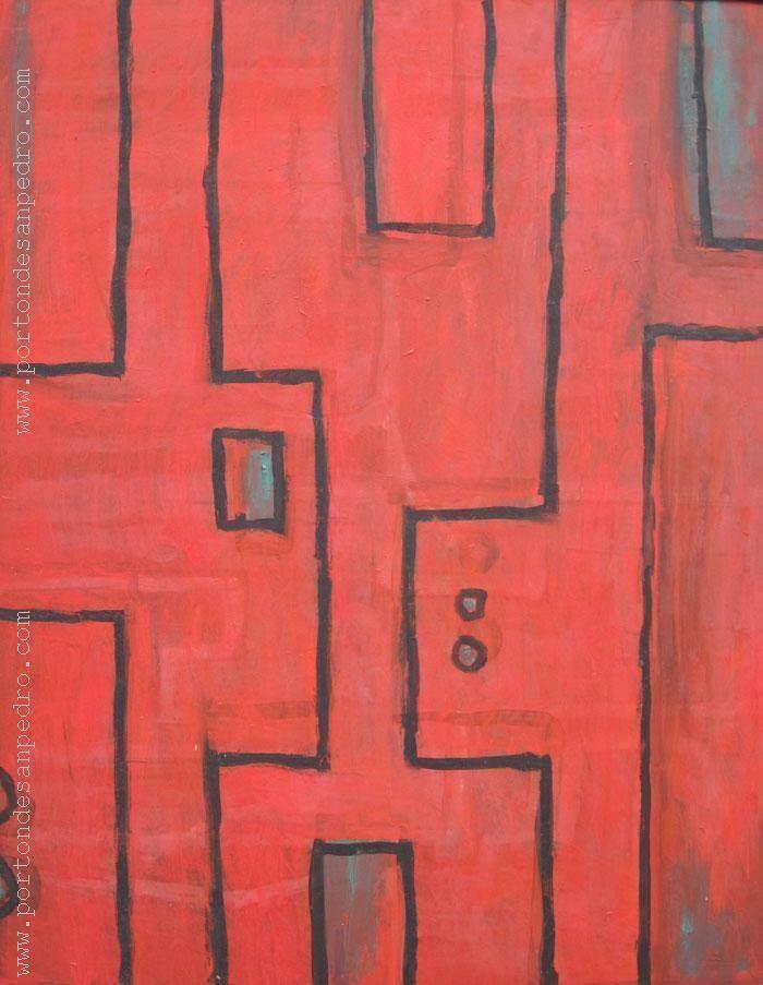 "Daniel Batalla ""Constructivo Rojo"" Óleo sobre fibra 97 X 76 cms. http://www.portondesanpedro.com/ver-producto.php?id=10524"