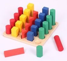 Кэндис го! красочные образовательных деревянная игрушка Монтессори преподавания лестница Последовательности геометрические блоки игры 1 компл.(China (Mainland))