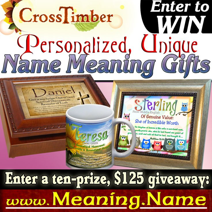 53 best name meaning gifts personalized images on pinterest free name meaning giveaway ends nov 28th 2015 over 125 in prizes negle Gallery