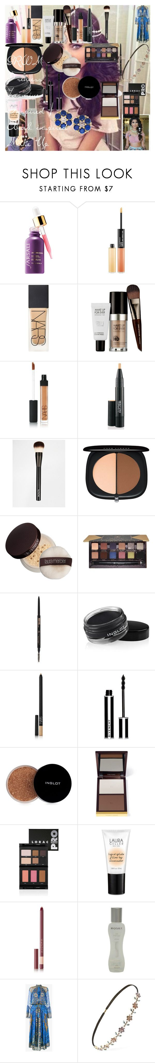 """""""GRWM - Princess Jasmine Inspired / Arab inspired Make Up"""" by oroartye-1 on Polyvore featuring beauty, MAC Cosmetics, NARS Cosmetics, MAKE UP FOR EVER, NYX, Marc Jacobs, Laura Mercier, Anastasia Beverly Hills, Inglot and Givenchy"""
