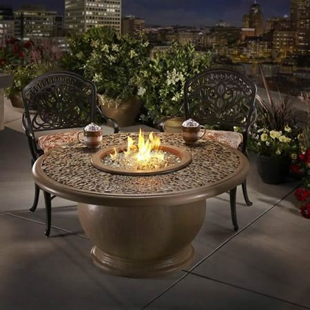 ideas only--  too $$$$   American Fyre Designs Amphora Firetable with Artisan Top