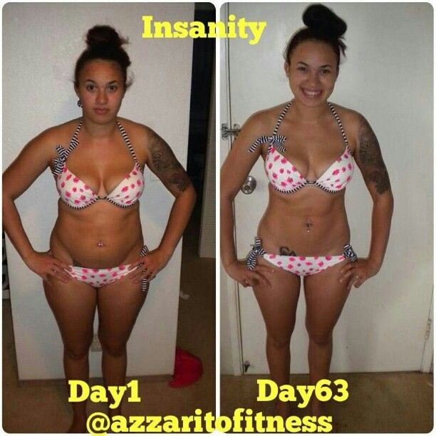 Great Insanity inspiration! Her before pic she weighted 150 lbs and her after 130 lbs... and she's a mommy of 1! Gotta get back on my insanity workout regimen!