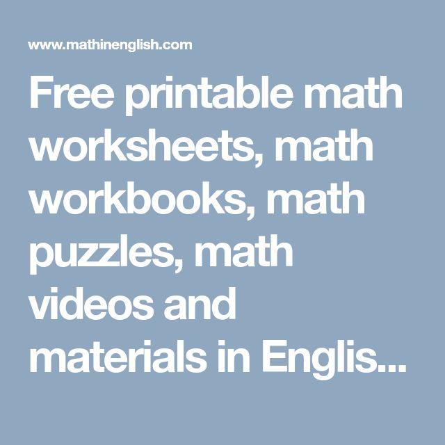 7 best Math images on Pinterest   Teaching math, 4th grade maths and ...